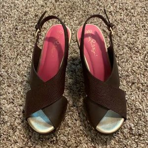 EUC Lilly Pulitzer Platform Sandals